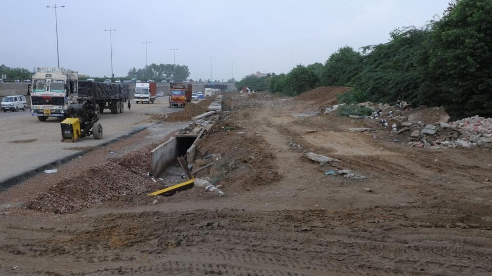 The 557-km two-lane strategic border road is being constructed at an estimated cost of Rs 4,000 crore. File