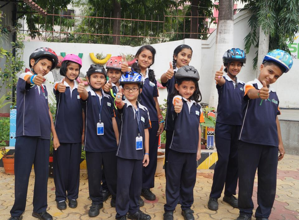 Students of Espalier School, Nashik, have used the 'Sonu' song to promote use of helmets and traffic discipline in the city.