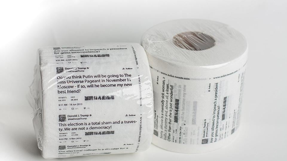 'This toilet paper has the best words.'