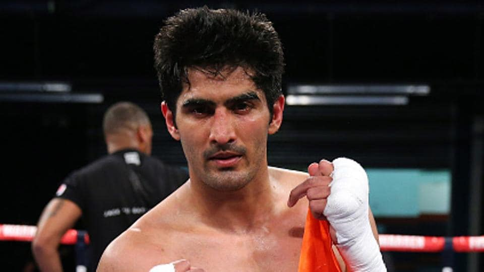 Vijender Singh defeated Zulpikar Maimaitiali by referee's decision to win the unified WBO Asia Pacific and Oriental Super Middleweight boxing titles in Mumbai. Catch boxing highlights of Vijender Singh vs Zulpikar Maimaitiali, WBO title bout, here.