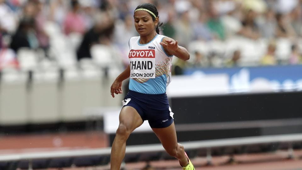 India's Dutee Chand crashed out from the IAAF World Championships in Athletics on Saturday.