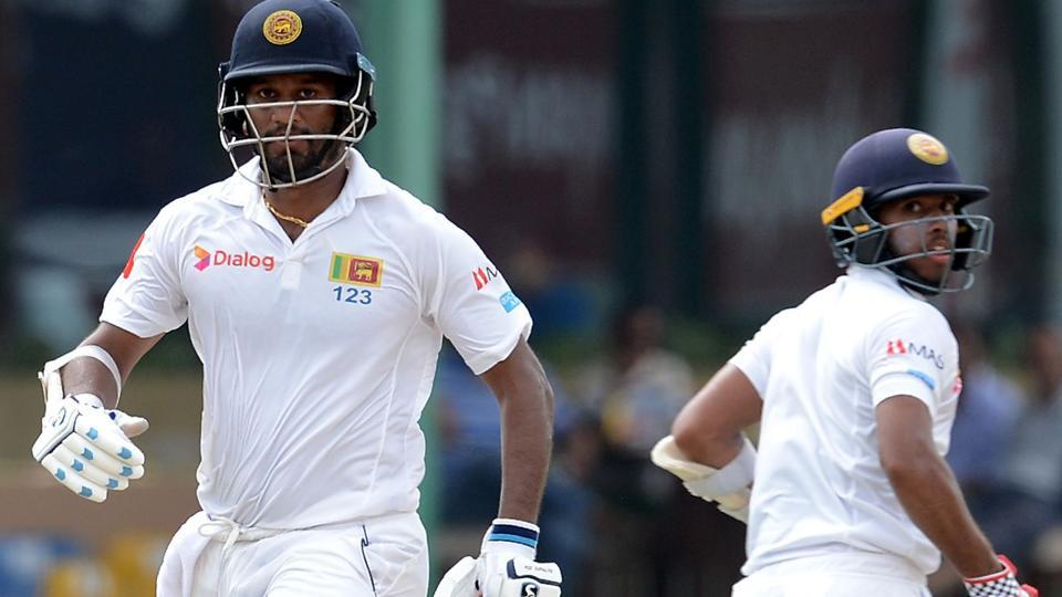 Dimuth Karunaratne (L) and teammate Kusal Mendis run between the wickets during the third day of the second Test match between Sri Lanka and India. Catch live updates and live cricket score of India vs Sri Lanka, 2nd Test, Day 3, here
