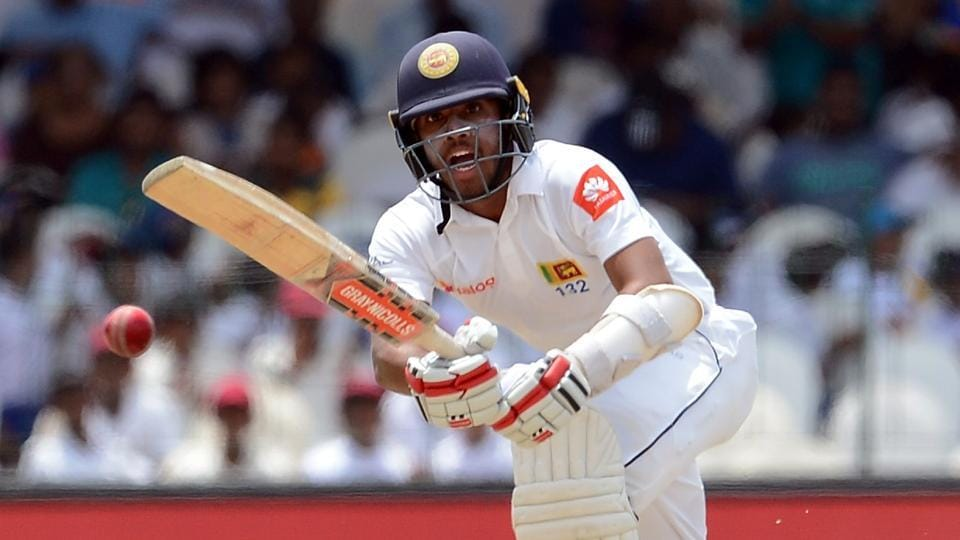 Sri Lanka's Kusal Mendis plays a shot during the third day of the second Test match against India at the Sinhalese Sports Club (SSC) Ground in Colombo on Saturday.