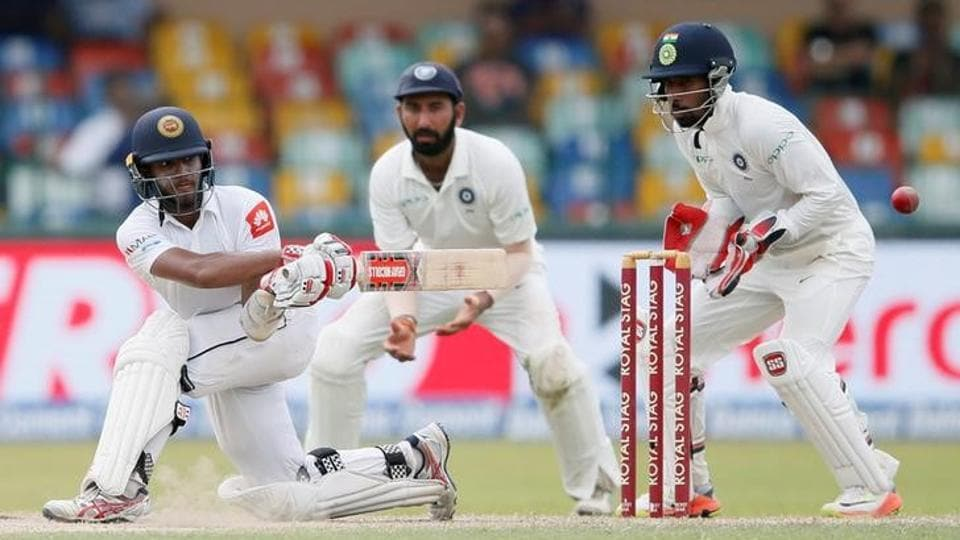 Sri Lanka's Kusal Mendis used the sweep shot to great effect against India on Day 3 of the second Test on Saturday.