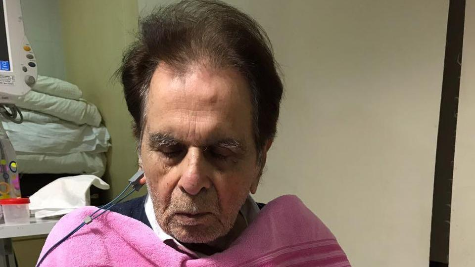 Actor Dilip Kumar in the Intensive Care Unit of Mumbai's Lilavati Hospital on Friday. Doctors say his condition is stable.(HT Photo)