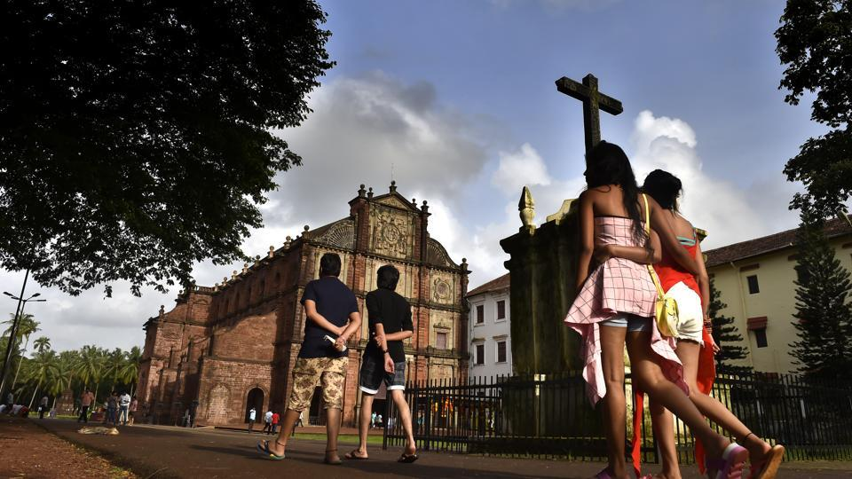 The mood in Goa is one of apprehension. The breaking of the crosses is being viewed as only a manifestation of the actual danger, the danger of an attempt being made to divide Goan society on the basis of religion.  (Ajay Aggarwal/HT PHOTO)