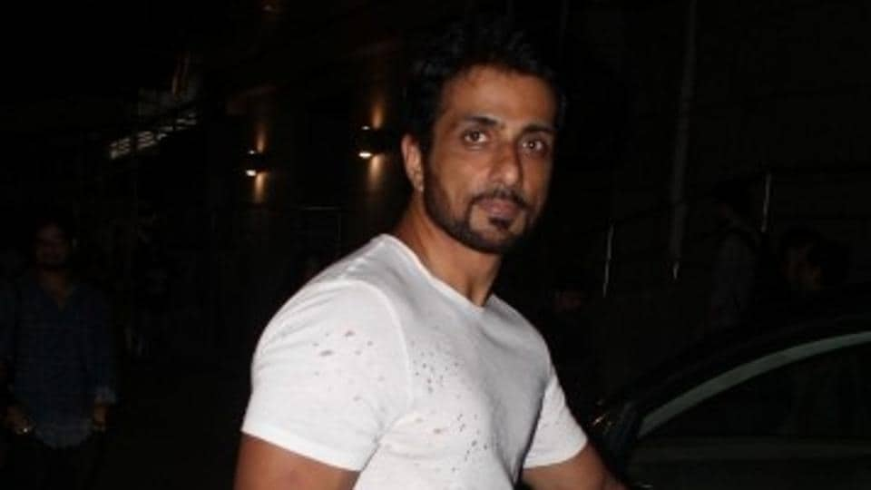 Sonu Sood during the special screening of Jab Harry Met Sejal in Mumbai.