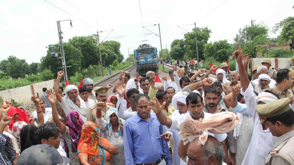 The police had filed FIR against 20 farmers for blocking trains on the Delhi-Howrah line in Bodaki village on July 28.