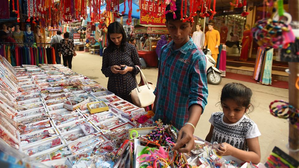 People are opting for rakhis 'made in India', which has resulted in a massive dip in the demand and sale of Chinese ones ahead of Rakshabandhan, sellers said.