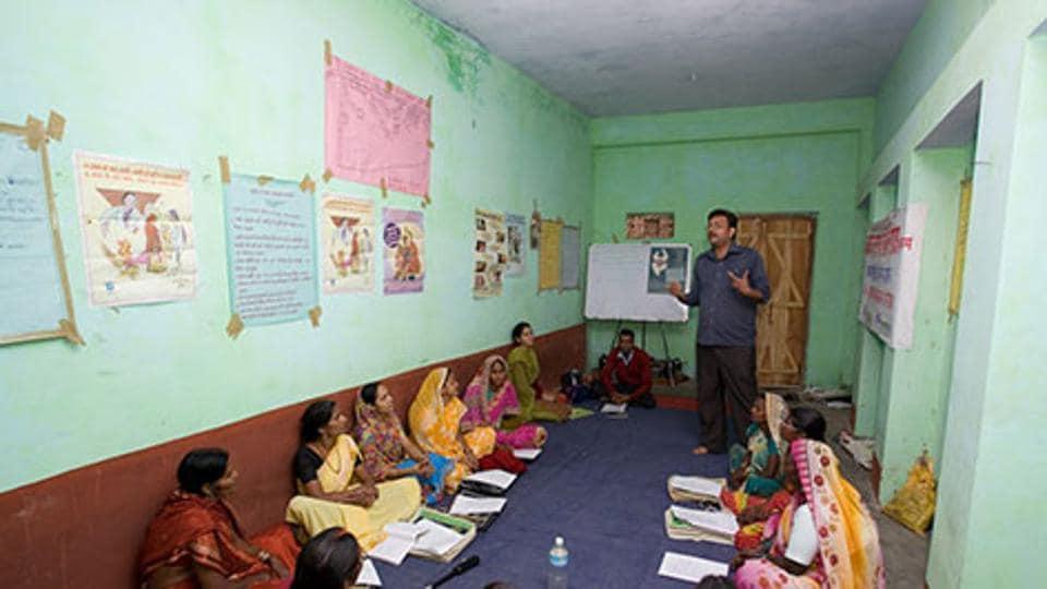 A vocational training centre of Rajiv Gandhi Charitable Trust.