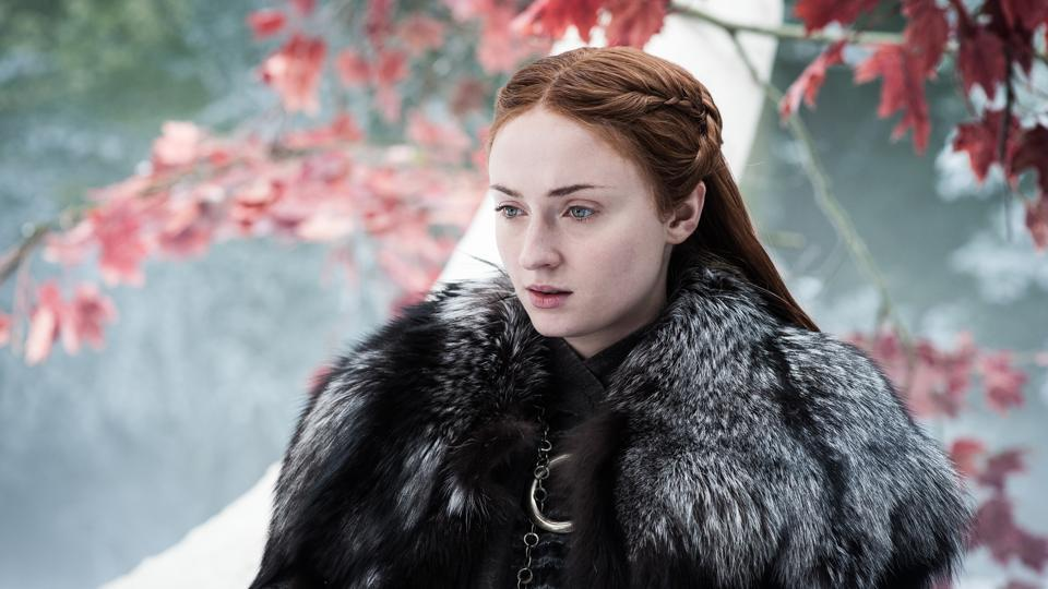 Sophie Turner as Sansa Stark in an image from Episode 4 of Game of Thrones' seventh season.