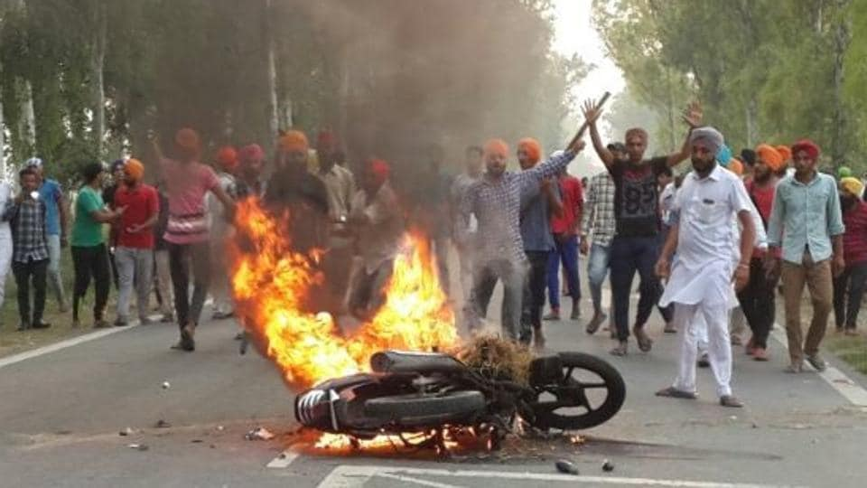 Earlier, kin of the deceased had accused three senior cops, including an SSP, SP and an SHO for firing at the protesters.