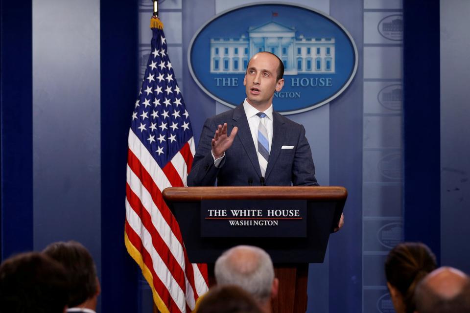 File photo of White House senior policy advisor Stephen Miller.