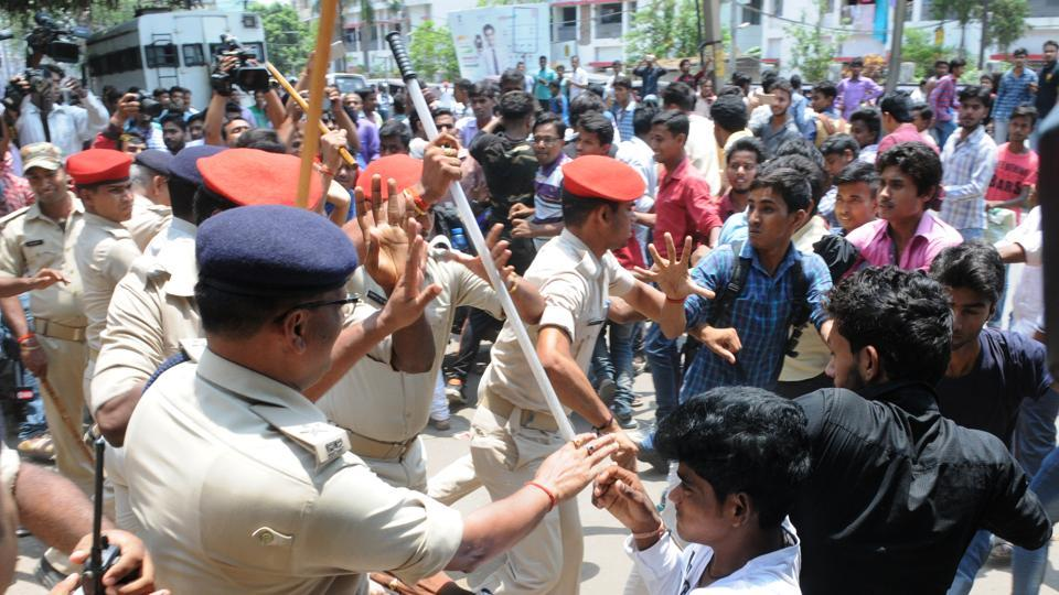 As many as six villagers were also injured in the lathicharge by the police, eyewitnesses claimed.