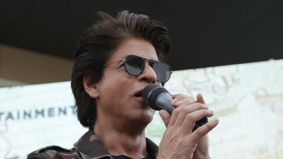 Shah Rukh Khan at a Gurugram University to promote Jab Harry Met Sejal.