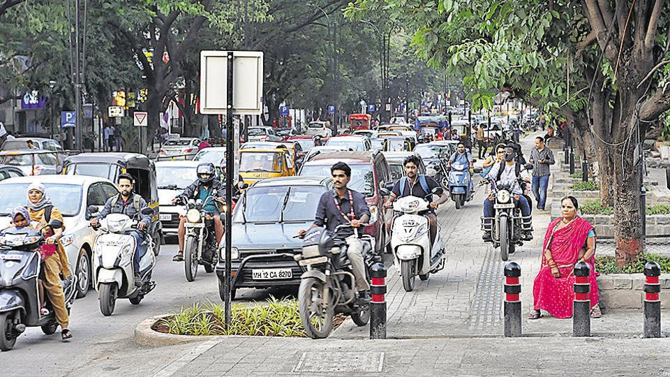 Smart city road, Aundh in Pune