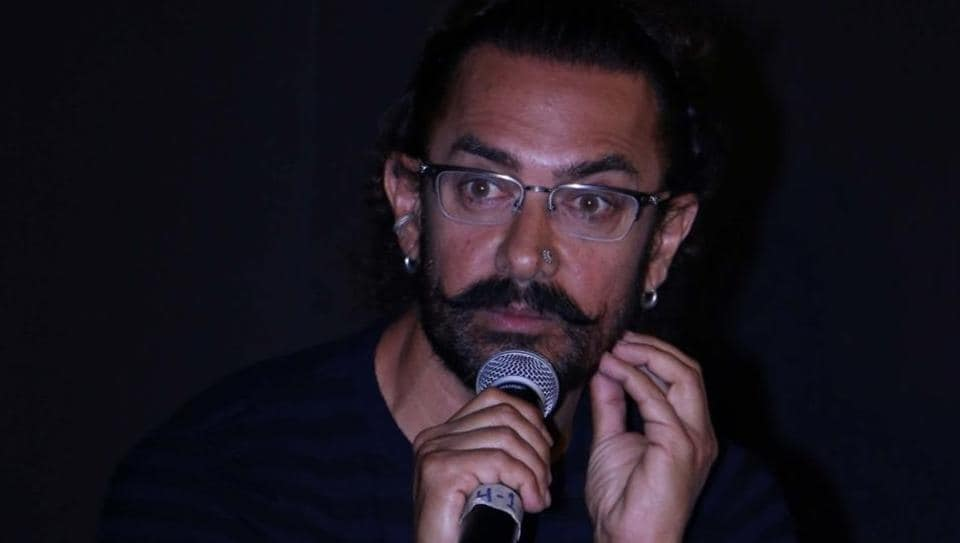 Actor Aamir Khan during the trailer launch of their upcoming film Secret Superstar in Mumbai.