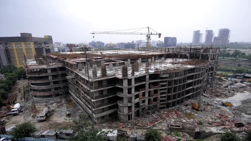 The Noida authority chief executive officer (CEO) Amit Mohan Prasad on Sunday inspected the multilevel car parking facility in Sector 18 to check progress at the site.