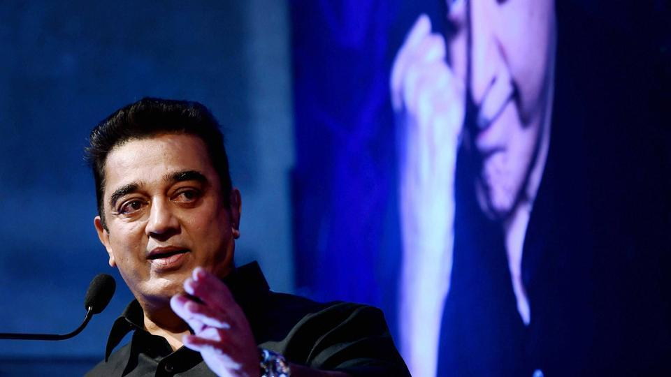 Tamil Thalaivas team ambassador actor Kamal Haasan during the unveiling of the team jersey for the Pro Kabaddi League 2017.