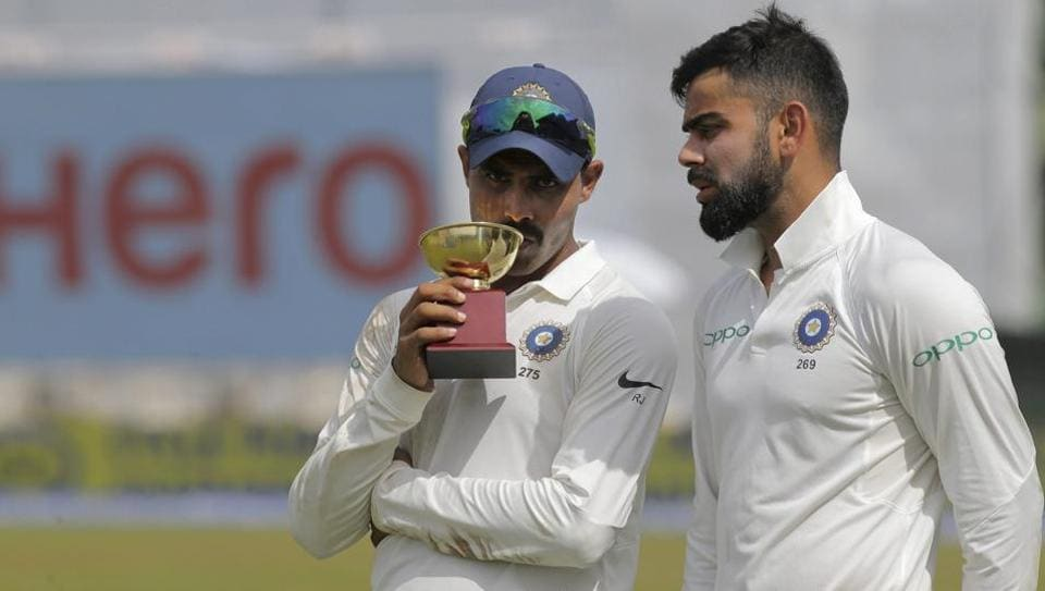 Ravindra Jadeja was the Player of the Match as India won the second Test by an innings and 53 runs.  (AP)