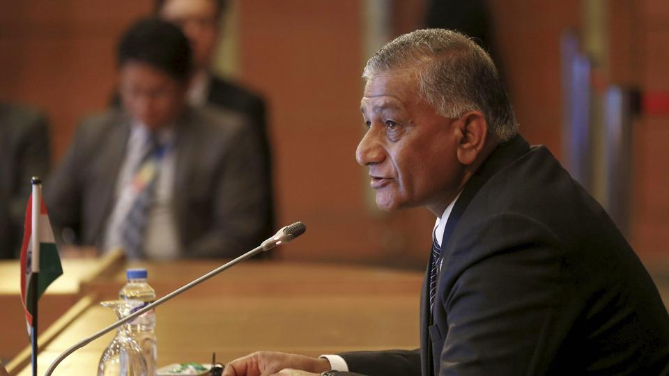 Minister of state for external affairs VK Singh speaks to other representatives of the Association of South East Asian Nations (ASEAN) in Manila, Philippines.