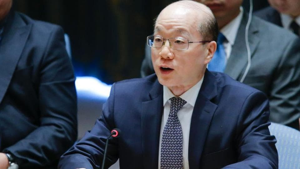China's Ambassador to the United Nations Liu Jieyi speaks after voting on a US-drafted resolution toughening sanctions on North Korea, at the United Nations Headquarters in New York, on August 5, 2017.