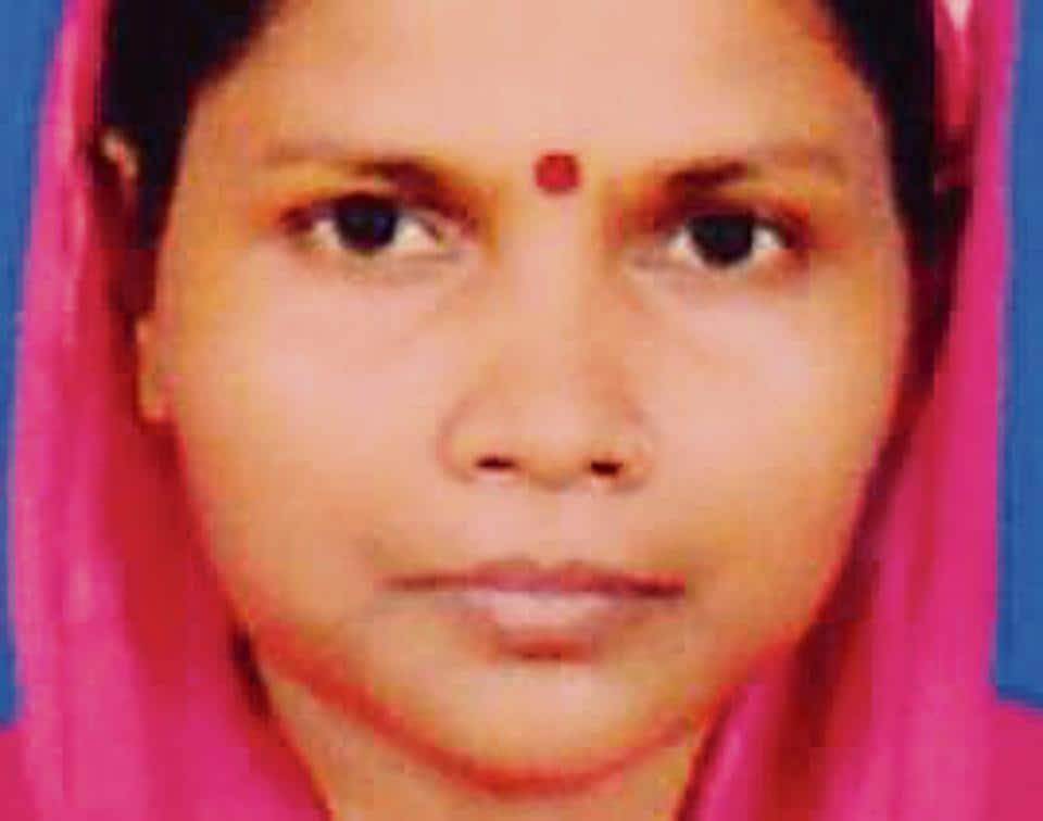 In a ghastly murder that played out in front of their two minor sons, a man slit his 30-year-old wife's throat with a knife before clubbing her with a cooking gas cylinder.