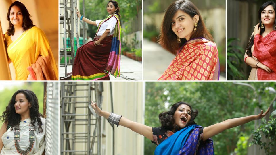 Team HT City celebrate the crafts of weavers  by dressing up in their favourite handloom piece