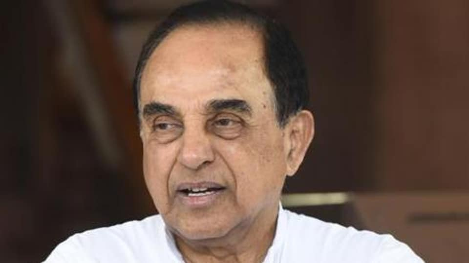 BJP Leader and member of parliament Subramanian Swamy
