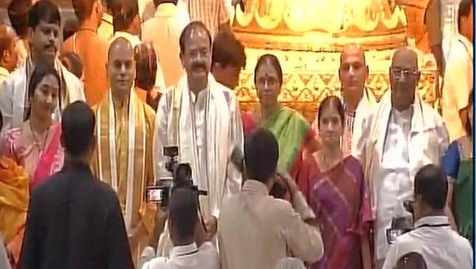 Venkaiah Naidu,Tirumala,Lord Venkateswara
