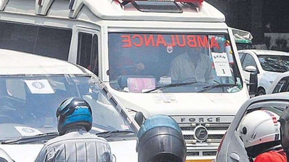 The BJP leader allegedly stopped the ambulance near the Lal Batti Chowk in Hisar.
