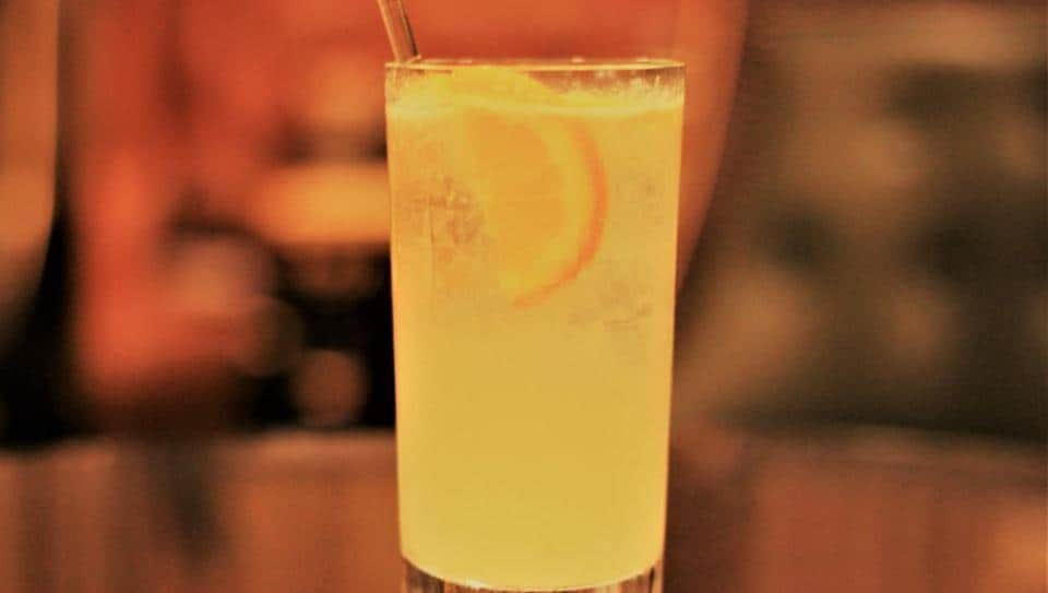 The French 75 cocktail from the Bar Hemingway at the Ritz Paris.