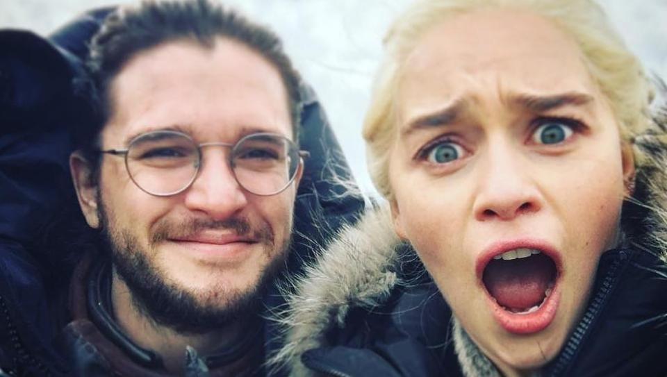 Game of Thrones,Emilia Clarke,Kit Harington