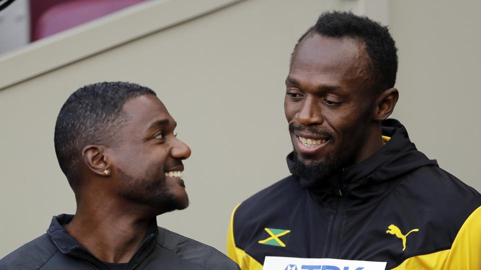Usain Bolt,Justin Gatlin,IAAF World Championships of athletics