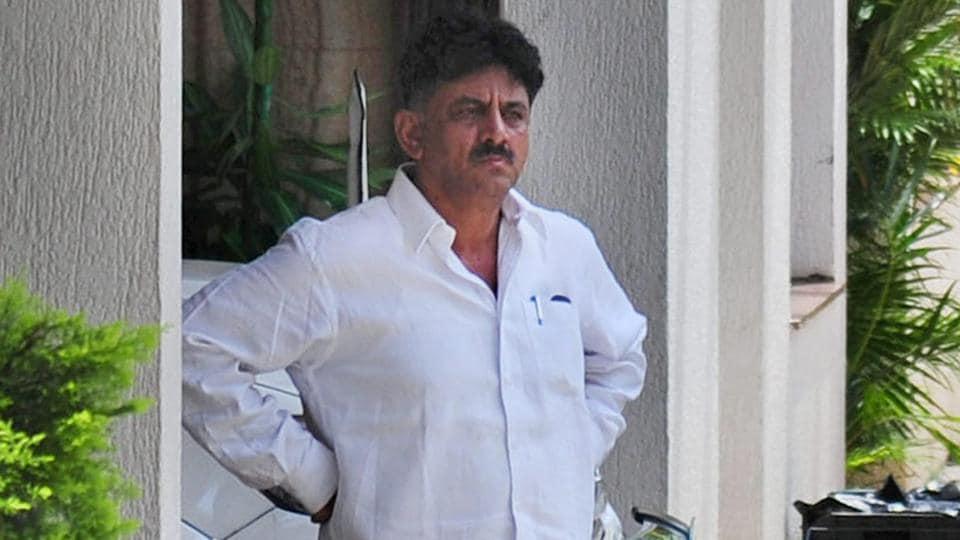 Karnataka Energy minister DK Shivakumar at his residence in Bengaluru on August 2, 2017.