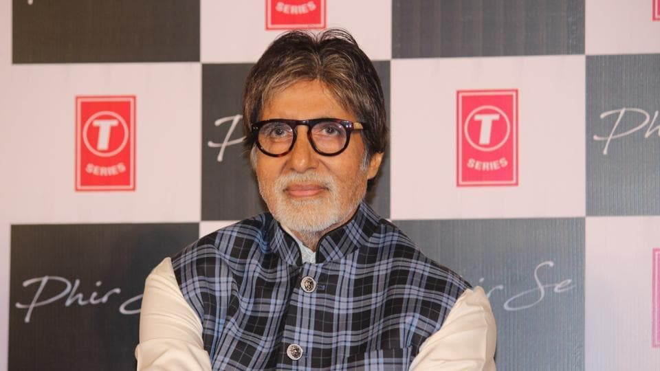 Amitabh Bachchan during the launch of a song in Mumbai.
