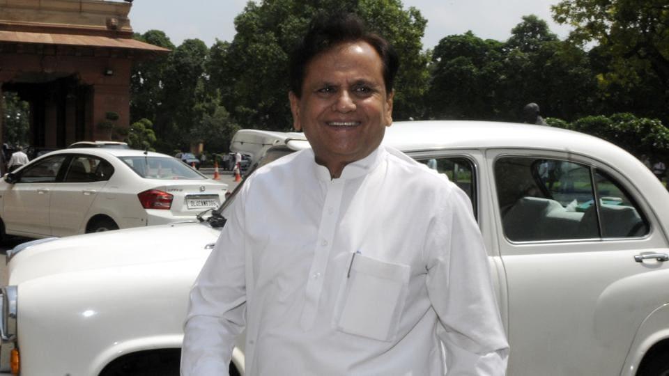 Congress leader and Rajya Sabha MP Ahmed Patel