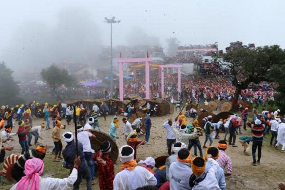 Bagwal is an ancient religious practice under which two groups of devotees used to pelt stones on each other during Devidhura fair, resulting in serious injuries. The devotees believed that the bloodshed would please the local goddess, Varahi.