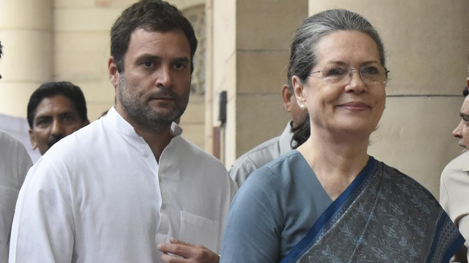 Congress president Sonia Gandhi with party Vice president Rahul Gandhi