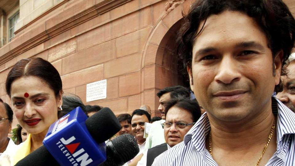 Both Sachin Tendulkar and Rekha have abysmal attendance and participation records in the Rajya Sabha.