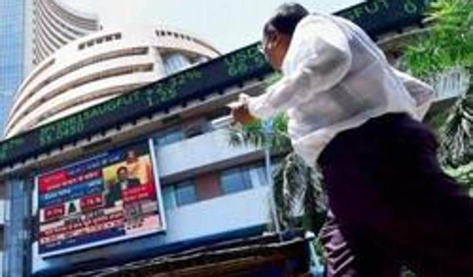 Sensex swayed considerably throughout Monday, closing the day with losses.