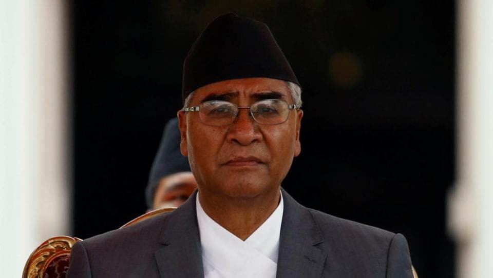 File photo of Nepalese Prime Minister Sher Bahadur Deuba after his swearing-in ceremony at the presidential building in Kathmandu on June 7, 2017.