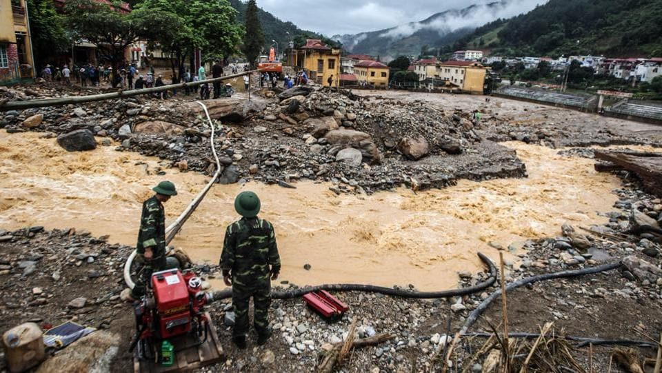 According to witnesses in Yen Bai province, floods tore through villages on Thursday night, carrying with them large boulders from the mountains. (AFP)