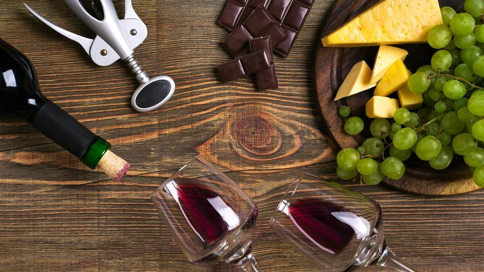Red wine, dark chocolate and cheese contain nutrients that enhance your intestinal immune response.