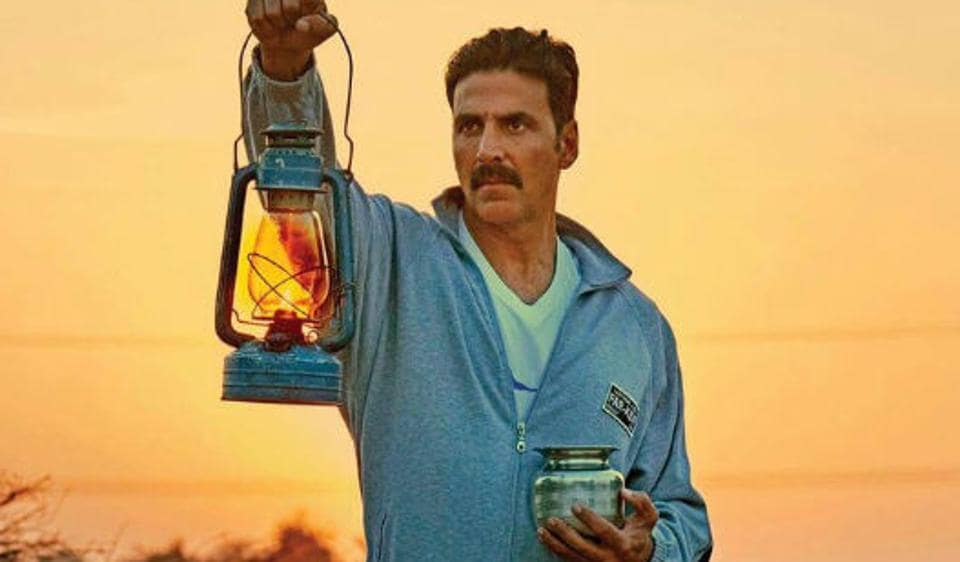 Akshay Kumar in Toilet: Ek Prem Katha, a film that puts sanitation at the centre of the plot.