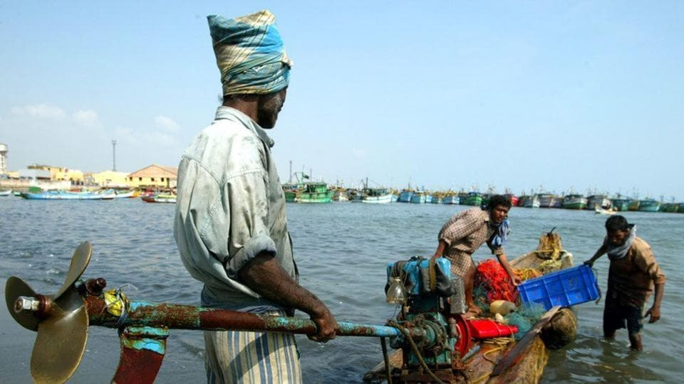 Image result for Nearly 50 Indian fishermen detained by Sri Lankan Navy