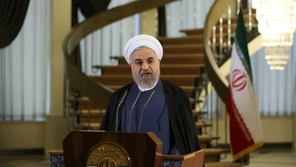 "The 68-year-old Rouhani was sworn into office on Saturday. He was re-elected in May on the platform of pursuing a ""path of coexistence and interaction with the world."""