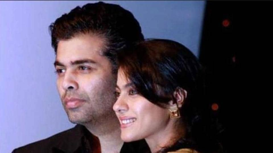 Karan Johar and Kajol seem to be ready to be friends again and it all started with the photo of Karan's twins.