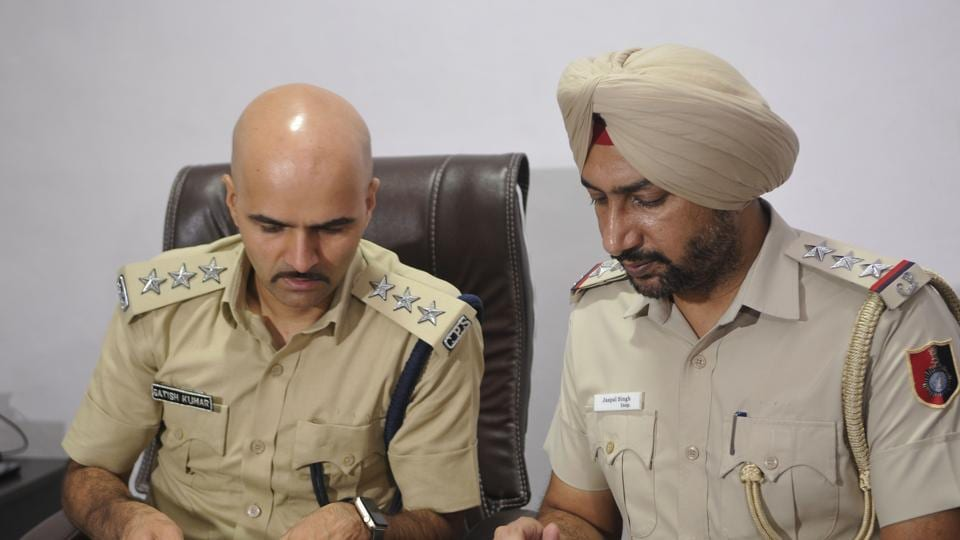 Chandigarh police officers brief the media on Saturday on the stalking case. After their decision to not include charges of attempted kidnapping in the case was criticised, the Chandigarh police said it will seek legal opinion on what sections can be added.