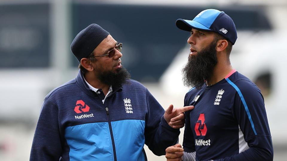 Moeen Ali (R) became the first man in cricket history to score more than 250 runs and take 25 wickets in a four-match Test series -during the course of England's 3-1 victory over South Africa.